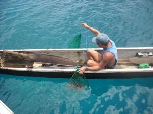 kuna fishing in san blas