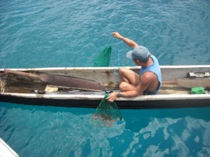 kuna fishing in san blas